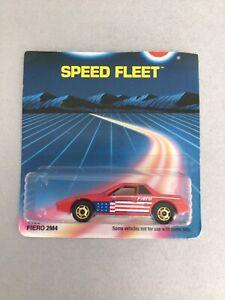 Hot Wheels Blue Card #114 Pontiac Fiero 2M4 Red