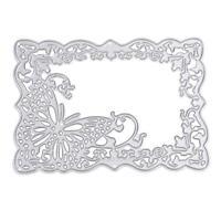 Metal Butterfly Frame Cutting Dies Stencil Fr DIY Scrapbook Paper Card Embossing