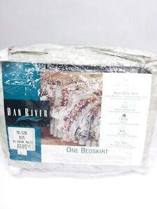 Dan River Bedskirt NEW Candice Queen Size bed ruffle 60' x 80' poly-cotton