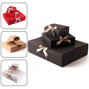 1PC Paper Cookie Gift Boxes with Clear Window Christmas Present Wraping Box