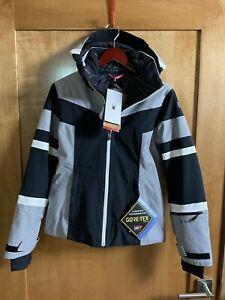 Spyder Captivate GTX Jacket Women's Size 4 Black Ski Gore-tex