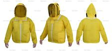 YELLOW THREE LAYERS MESH ULTRA BEEKEEPING JACKET BEE VENTILATED COOL AIR LARGE