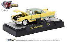 1:64 M2 Machines *AUTO-THENTICS R43* Yellow & Green 1957 DeSoto Fireflite *NIB*