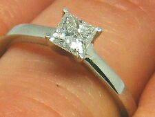 9ct Gold 9K Gold 0.50ct Solitaire princess cut Engagement Diamond ring size L