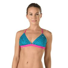 Speedo Women's Endurance Lite Wild Life Tie Back Turnz Bikini Top -Size L