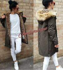 ZARA NEW  LEOPARD FUR LINED PARKA COAT SIZE M UK 10