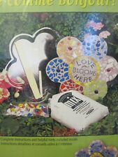 """New Milestones Mosaic Flower Stepping Stone Kit 12"""" Mold with stained glass"""