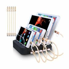 Charging Station 5 Port Usb Charger Quick Charge Charging Dock, Cell Phone Ch...