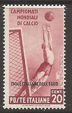 Dodecaneso Isl. SG128 1934 Coppa del Mondo di Calcio 20 C MTD Nuovo di zecca