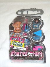NEW MONSTER HIGH GHOUL'S GOT CHARM NECKLACE 5 CHARMS SERIES 1 UNGLUED ON 1 SIDE