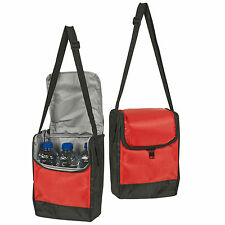 6 Can Or 3 Beer Bottles Cooler Picnic Lunch Bag Beach BBQ Camping Shoulder Strap