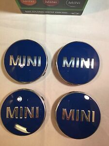 MINI ALLOY WHEEL CENTER BADGE HUB CAP EMBLEM DECAL 2014 ONWARDS DARK BLUE 947
