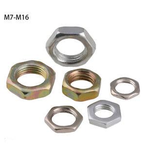 "M7 M8 M9 M10-M16 Galvanized Fine Pitch Hexagon Half Lock Nuts Hex Thin Nut 3/8"""