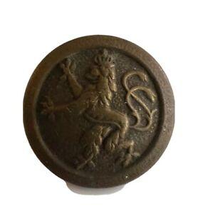 ANCIEN BOUTON LION HERALDIQUE COURONNÉ 1914/18 D=20mm LOT 1