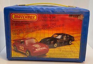 "MATCHBOX ""THE ORIGINAL COLLECTABLES OFFICIAL COLLECTORS 24 CAR CARRY CASE #624"