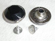 10 Stück Jeansknopf Nietenknöpfe Jeans Knöpfe  22 mm schwarz silber   #407#