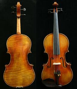 Rare Violin Stradivari Violin Model 1-P Broad Flame Maple Back&Scroll