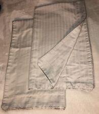 Pacific Coast damask Stripe King Pillow Sham Set (2) Fine Linens Tan Beige