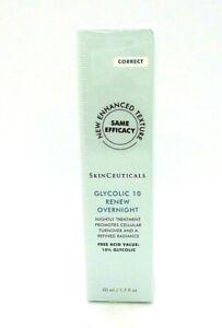 SkinCeuticals Glycolic 10 Renew Overnight ~ 1.7 oz / BNIB