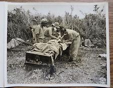 WWII BURMA CBI PHOTO - Col GORDON SEAGRAVES HOSPITAL UNIT Treating Wounded 1944