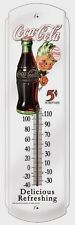 Coca-Cola-Sprite Boy 5 Cents`Metal`Thermometer`New,Licensed Prod->Free To US