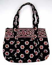 Vera Bradley Handbag Pirouette Black Red Floral Quilted Plaid Tote ?NWOT EXCELEN