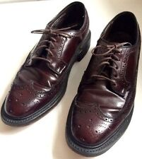Vintage MANSFIELD DIPLOMATS Leather Wingtip Formal Oxford Mens Shoes 9 D/B USA