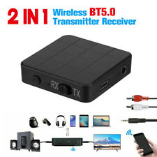 Bluetooth 5.0 Receiver Transmitter 3.5mm AUX Stereo For TV PC Headphone Speaker