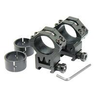 "2 PCS 30mm  - 1"" Scope Ring Picatinny Weaver Rail Laser Optics Mount Heavy Duty"
