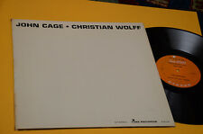 JOHN CAGE LP CHRISTIAN WOLFF ORIG USA TIME LABEL EX LAMIANTED COVER CONTEMPORARY