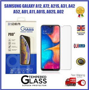 Samsung Galaxy A12/A72/A21S/A31/A42/A32/A52Clear Tempered Glass Screen Protector