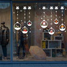 Christmas Ball Window Glass Wall Sticker Removable DIY PVC Shop Xmas Decor Decal