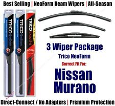 3-Pack Wipers Front & Rear NeoForm - fit 2003-2005 Nissan Murano - 16260/190/14B