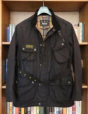 £249 Mens Barbour A7 Slim International black wax biker jacket XL Large 40 42