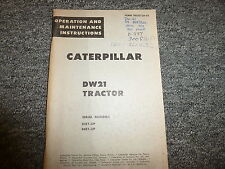 Caterpillar Cat DW21 Tractor Scraper Owner Operator Maintenance Manual 85E 86E