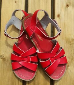 Salt Water Real Leather Sandals Red Size 4, EU37, Women's shoes