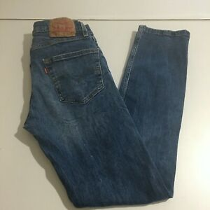 Levi's 502 Mens Blue Jeans Size 29x32 (29x29) Medium Wash Distressed