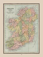 Ireland - Cram 1888 - 23.00 x 30.02