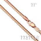 TT 3mm 9K Rose Gold Filled Flat Snake Chain Necklace (CF137)