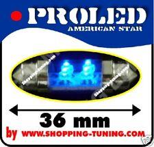 2x ampoule 4 led 36mm,plafonnier,éclaire plaque Bleu