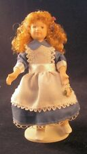 Miniatura Dollshouse PORCELLANA Bambola Bambina Vestito In Blu ~ flessibile 1:12
