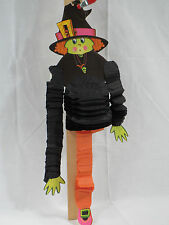 1970s Shabby Beistle Honeycomb Tissue Paper Halloween Witch Dancer Dancing