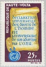 Upper VOLTA Alto Volta 1963 140 128 15 Ann Universal Declaration Human Right MNH