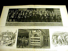 Brady Portraits POWERFUL MARITIME MEN D.C.DELEGATES  & BARNUM ANIMALS 1889 Print