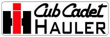 CUB CADET IH HAULER BUMPER STICKER - SET OF 2
