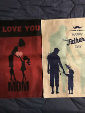Mother/Father Double Sided Canvas Garden Flags