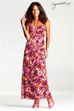 £60 BNWOT NEXT Signature floral print silky chiffon maxi dress - size 8