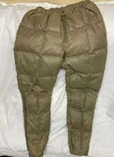 Vintage Eddie Bauer Sz M Men's Quilted Goose Down Pants