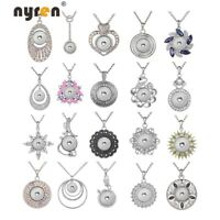 Multi Styles New Snap Pendant Necklace Fit 18mm Snap Button 20mm Snap Jewelry