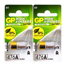 2 x GP 476A Alkaline Super batteries 6V 4LR44 A544 V4034PX 28A 4G13 Pack of 1